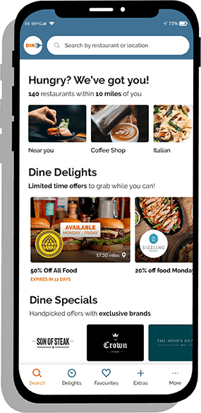 Dine app screenshot